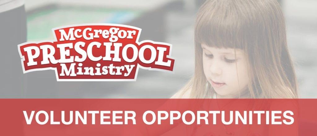 Preschool Serving Opportunities